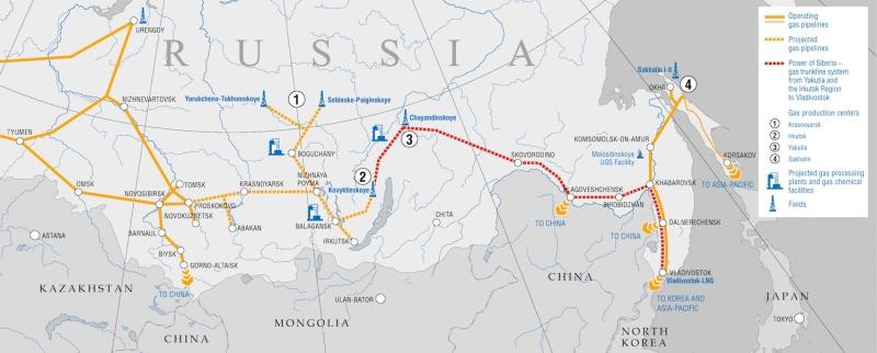 Planned Power of Siberia GTS. © Gazprom
