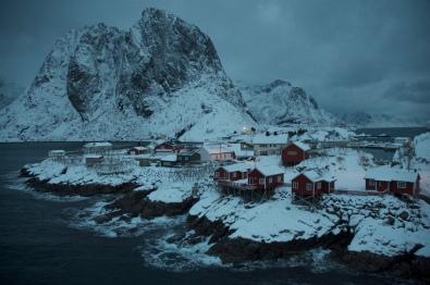 Reine, Lofoten Islands, Norway. January 2013.