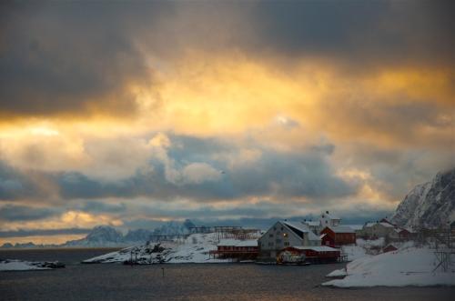 Tine, Lofoten Islands, Norway. January 2013.