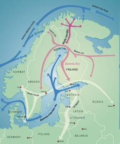 Map of Proposed Railway. © Arctic Corridor.