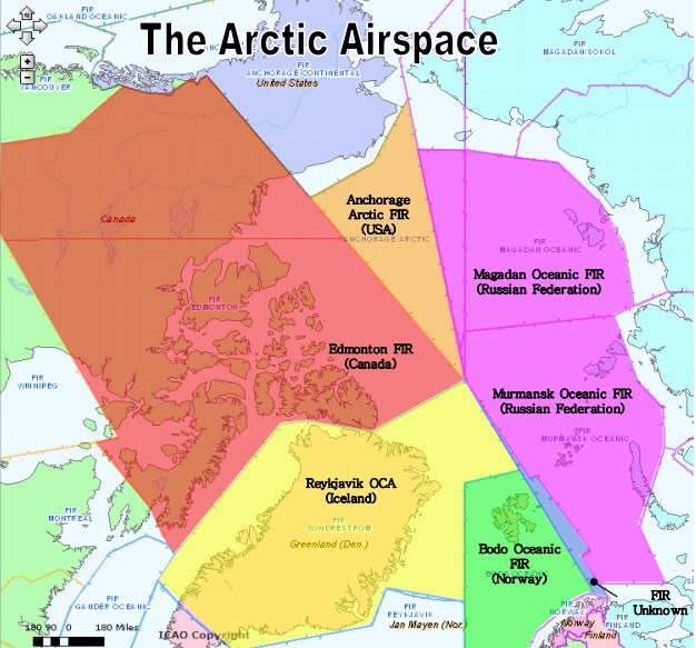 Figure 3. Arctic FIRs. From the U.S. FAA.