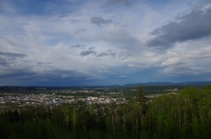 The view from UNBC over Prince George, BC. © Mia Bennett
