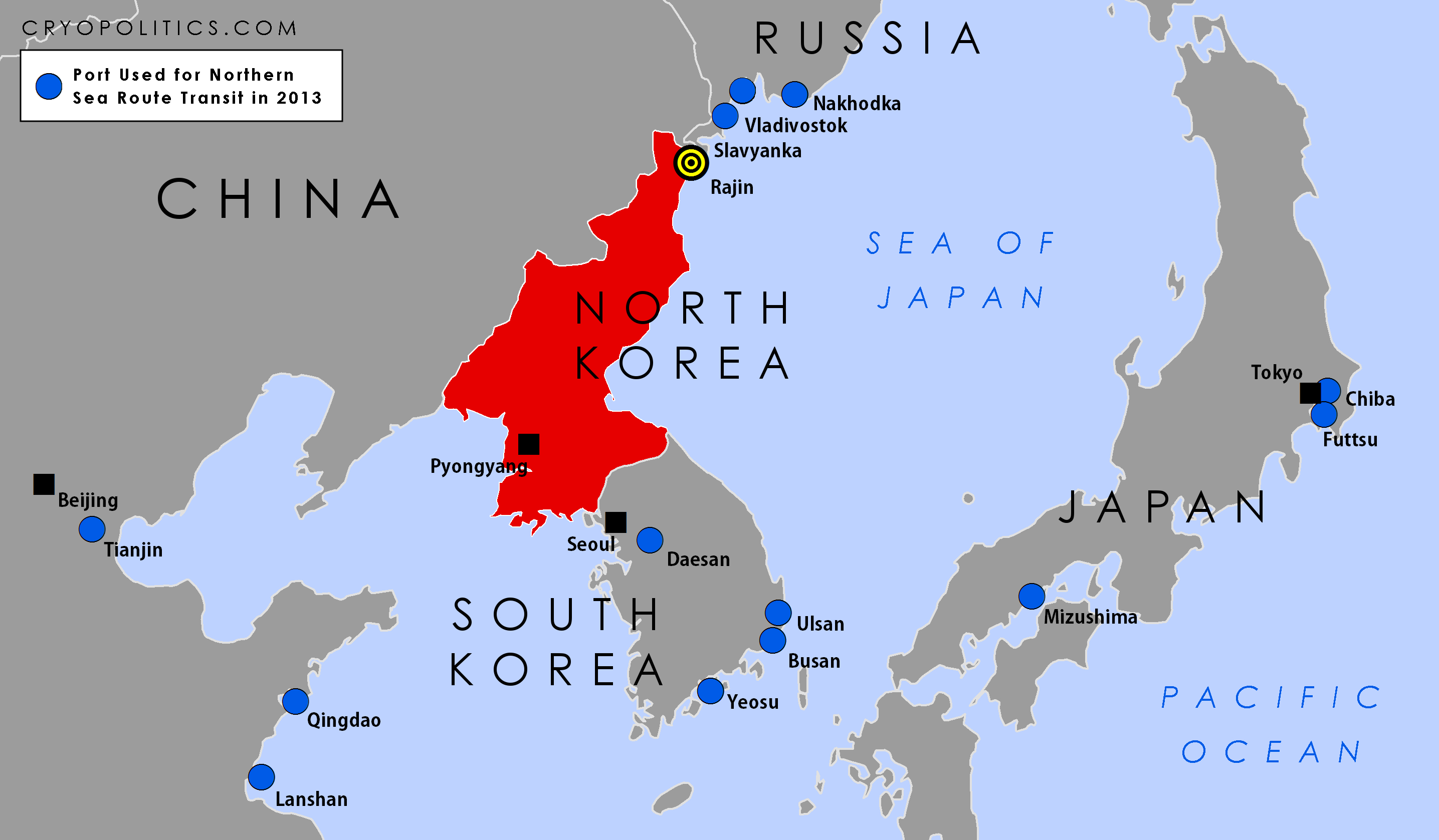 North korea location on the asia map maps cryopolitics gumiabroncs Image collections