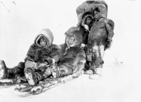 Inuit on the go... most of the time! Taken in the 1920s in the Northwest Territories. © Library and Archives Canada.