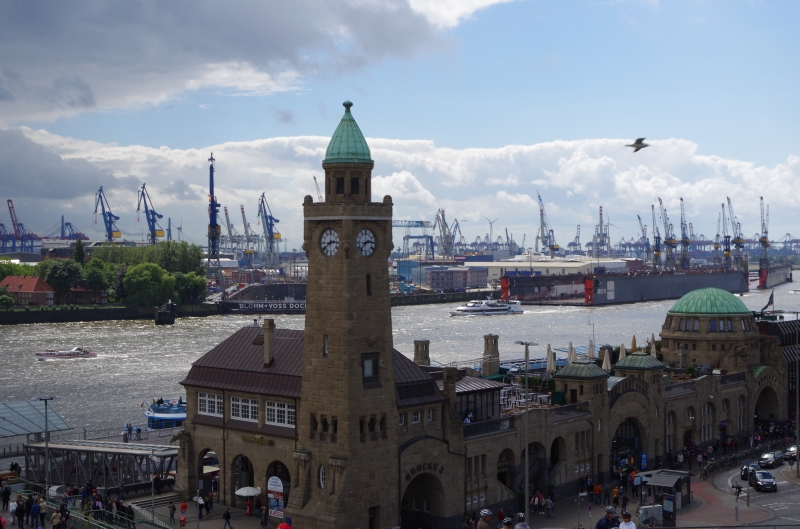 The Port of Hamburg viewed from above Landungsbrücken. © Mia Bennett 2014.