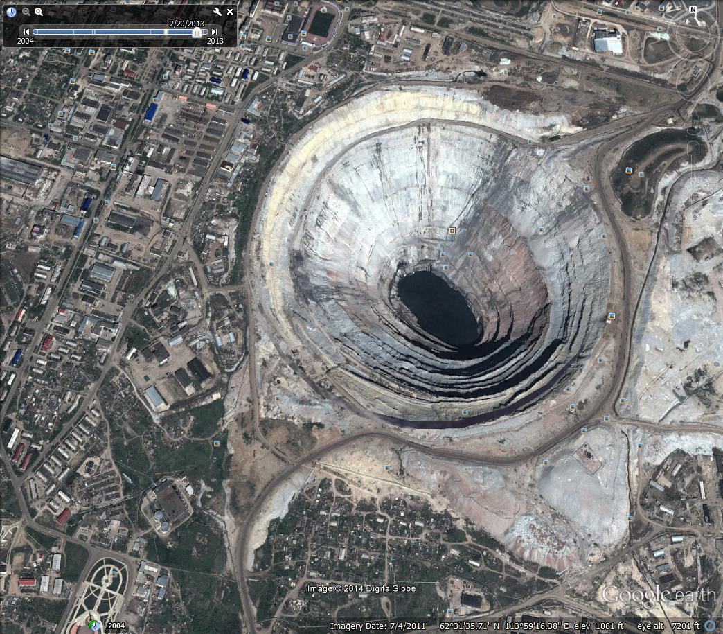 arctic satellite image of the week  mirny  russia