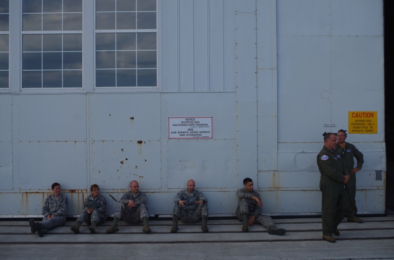 U.S. Air National Guardsmen in Goose Bay. © Mia Bennett, August 2014.