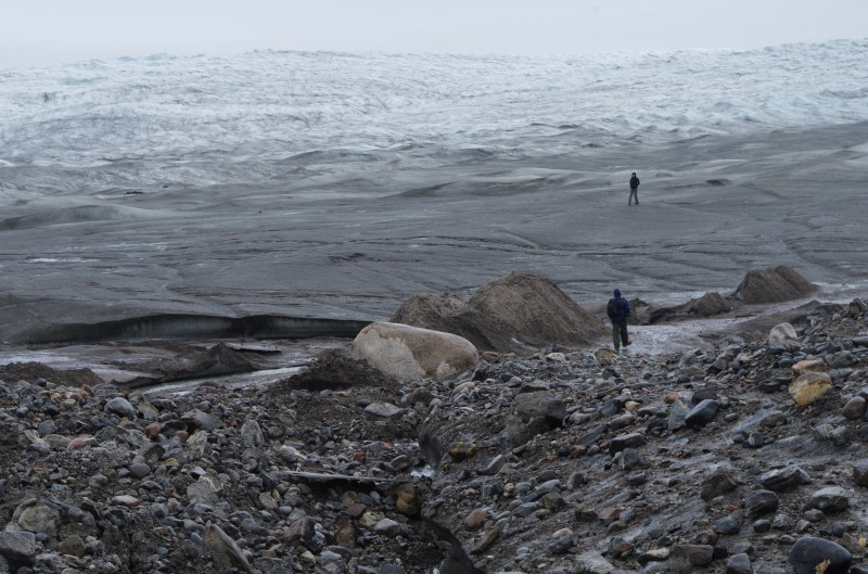 Where the road - and N's dreams of an ice track testing ground - end. © Mia Bennett, August 2014.
