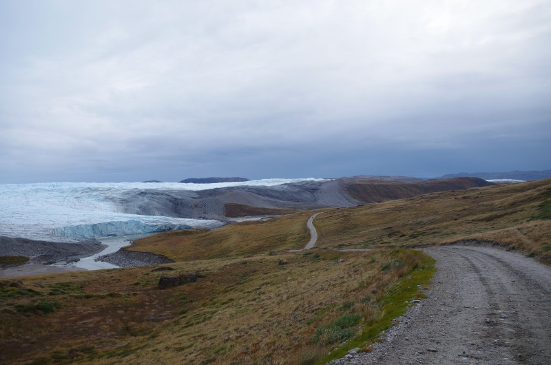 The longest road in Greenland, from Kangerlussuaq to the ice cap. © Mia Bennett, August 2014.