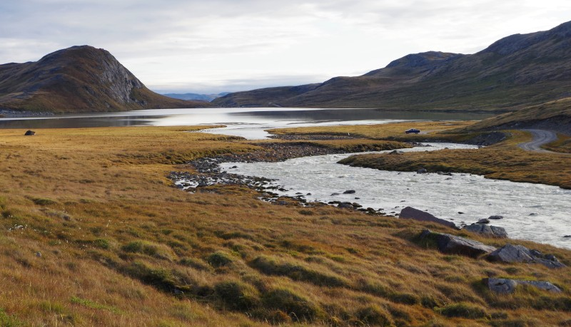 The Kanger-Ice Sheet road, not too far from the ice. © Mia Bennett, August 2014.
