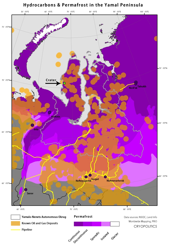 Hydrocarbons and Fossil Fuels in and around Yamal.