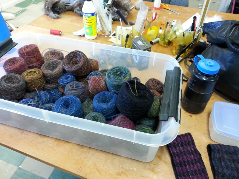 Dyed muskox wool. © Mia Bennett, August 2014.