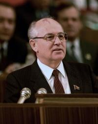 Former Soviet leader Mikhail Gorbachev.