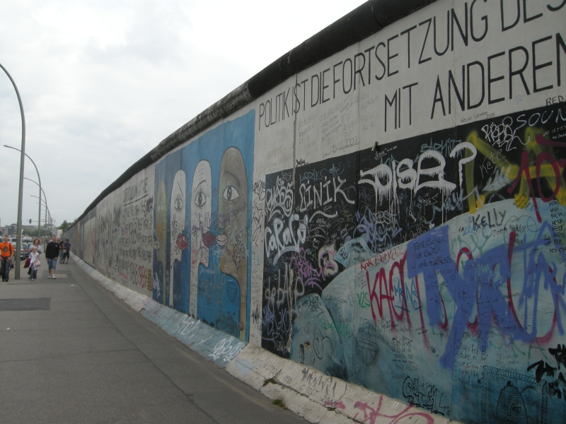 A part of the Berlin Wall at the East Side Gallery in Berlin, Germany. © Mia Bennett.