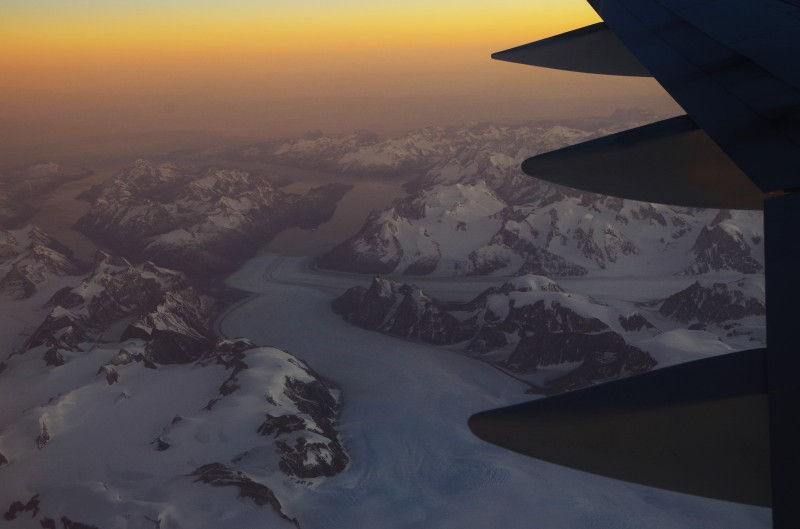 The glaciers of East Greenland flowing out to sea, and to the world beyond. © Mia Bennett