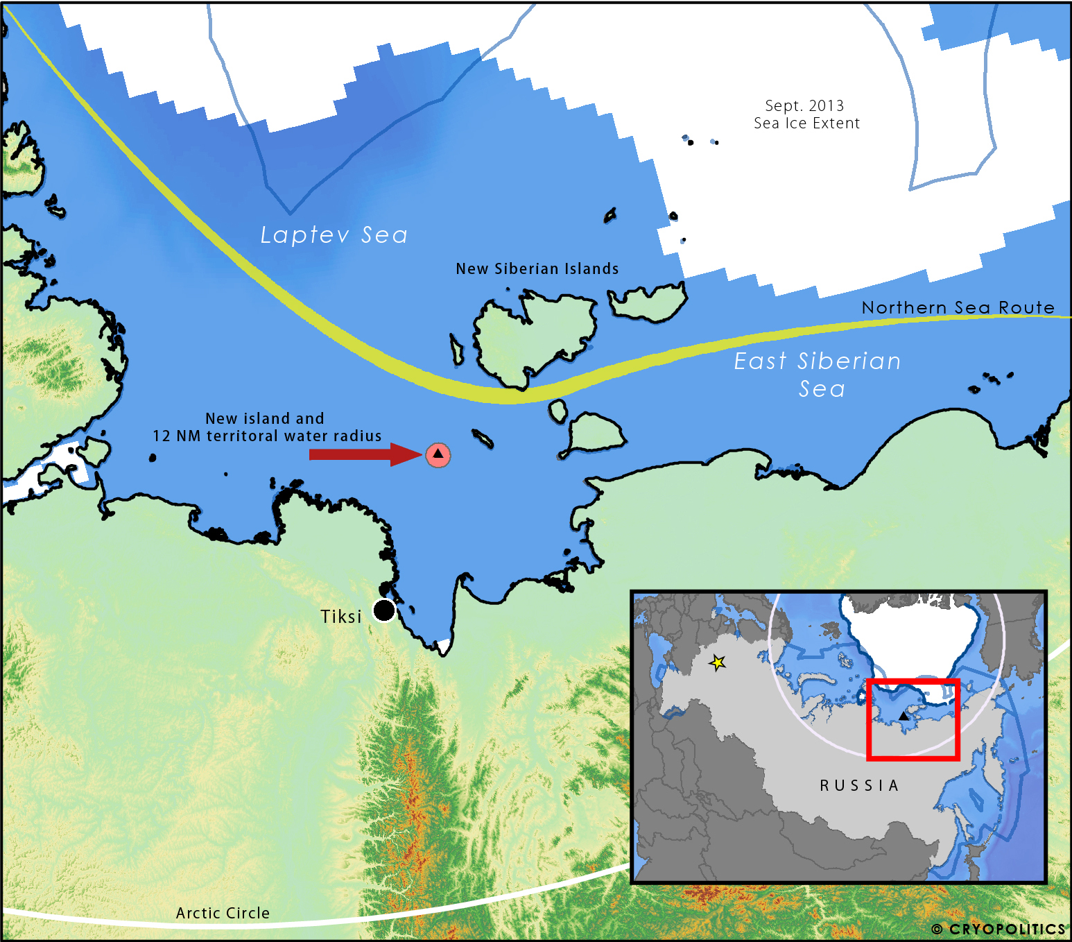 Arctic Circle Russia Map.Russia Discovers A New Island In Its Arctic Cryopolitics