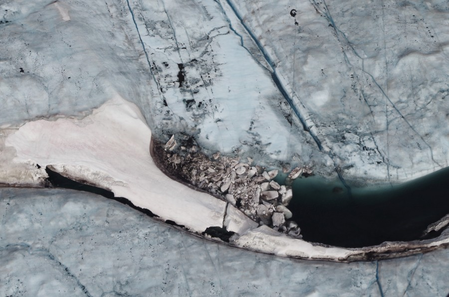 An ice dam on the Greenland ice sheet. August 2014.