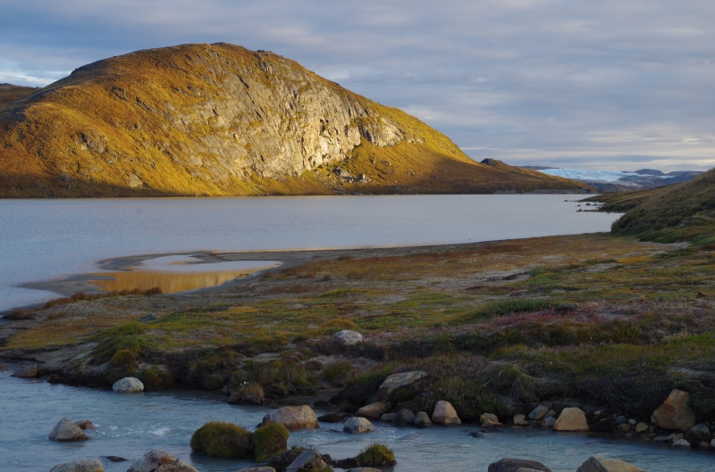 The view from our campsite east of Kangerlussuaq, Greenland. AUgust 2014