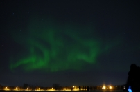 Northern lights above Tromsø. January 2014.