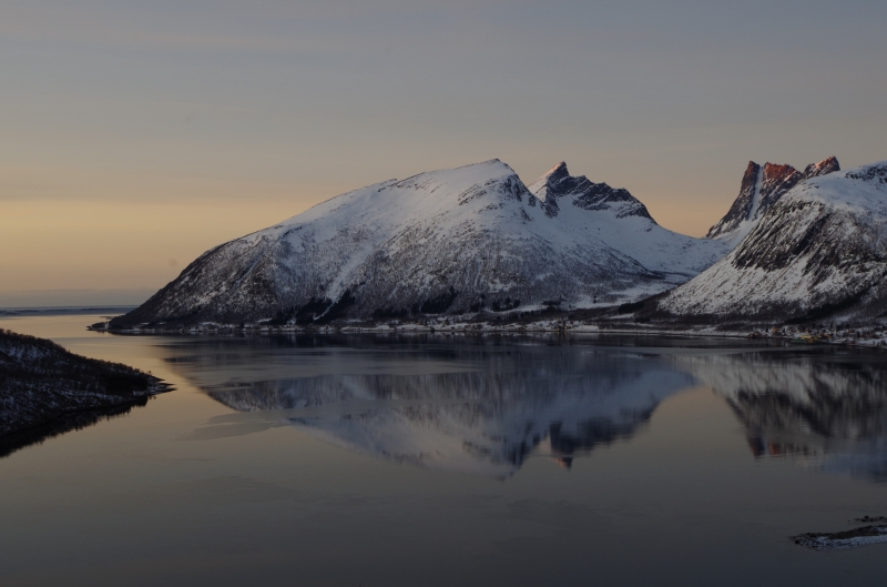 The view over Senja, Norway. January 2014.
