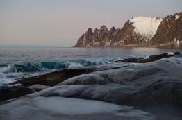 Ersfjorden, Senja, Norway. January 2014.