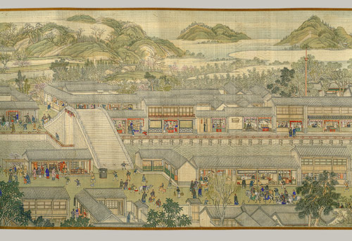 The Qianlong Emperor's Southern Inspection Tour, Scroll Six: Entering Suzhou and the Grand Canal, Qing dynasty (1644–1911), dated 1770. Metropolitan Museum of Art.