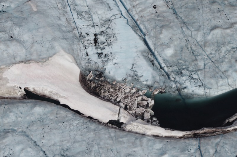 """An ice dam in Greenland. Will this be the year the """"dam of denial,"""" as Paul Gilding asks, breaks in the Arctic? Photo: Mia Bennett, 2014."""