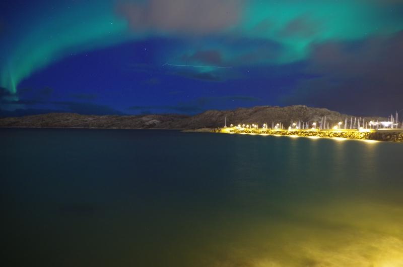 Bright lights, big city, all looking pretty. Bodo, Norway. Photo: Mia Bennett.