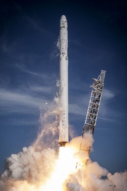 CRS-6 launches into the blue yonder.