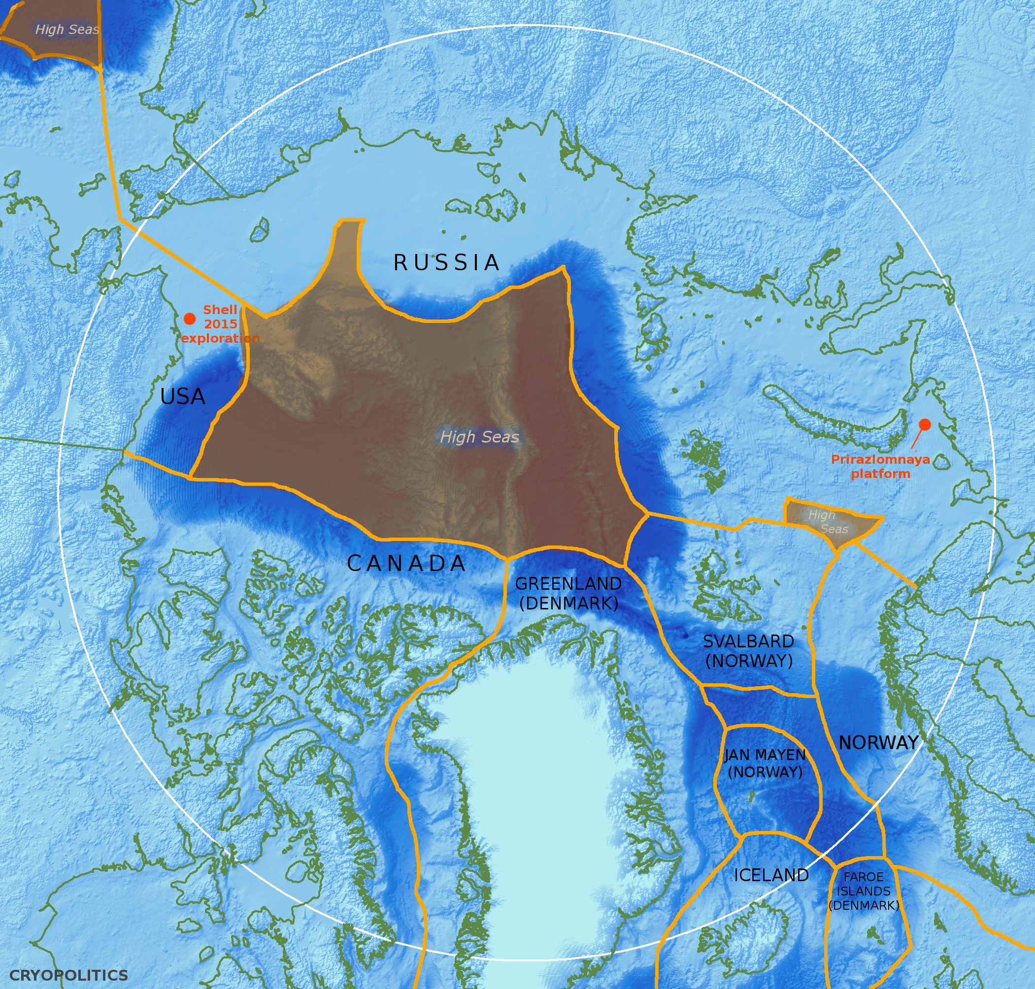 The Donut Hole at the Center of the Arctic Ocean  cryopolitics