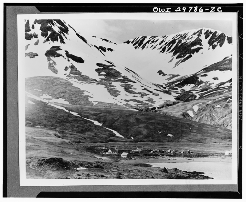 Attu, Aleutian Islands, Alaska, 1943. Photographer: O.J. Muriel. From Library of Congress Prints and Photographs Division.