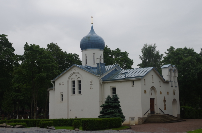 A Russian Orthodox church in Helsinki.