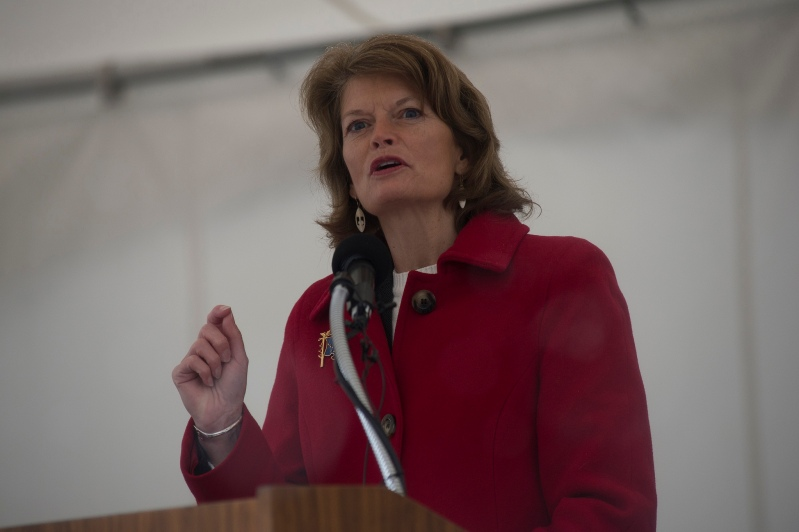 Senator Murkowski (R-Alaska) speaking in Anchorage in 2013. U.S. Navy Photo: (Mass Communication Specialist 1st Class James R. Evans / Flickr Creative Commons License