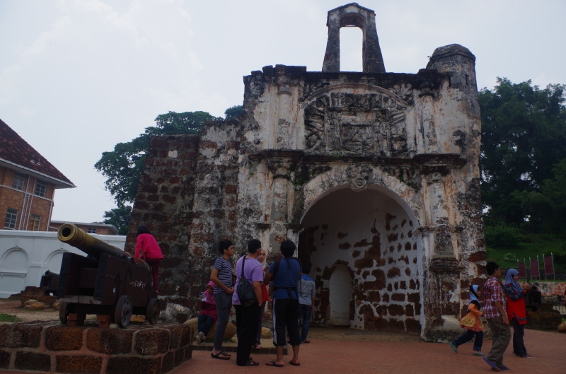 A Famosa, the old Portuguese fort in Melaka, Malaysia.