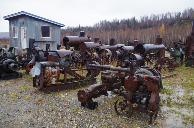 Old mining equipment now sitting
