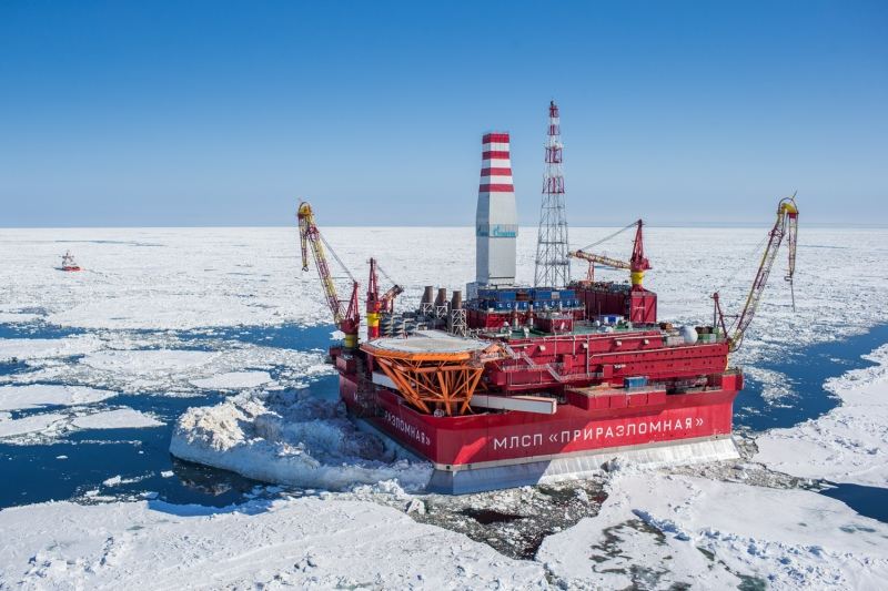 The Prirazlomnaya platform in Russia's Kara Sea. Could a Trump presidency re-open the Russian offshore to U.S. investment?