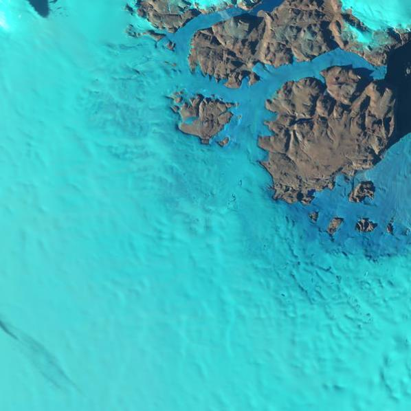 Nunataks in north Greenland captured by Sentinel-2.