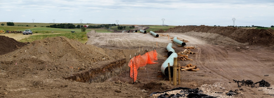 Construction on the Dakota Access Pipeline.