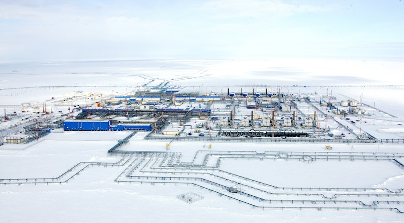 Gas production facility No. 2 of the Bovanenkovo gas fields in Russia's Yamal Peninsula. Photo: Gazprom.