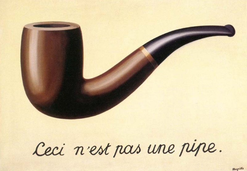 Rene Magritte - The Treachery of Images