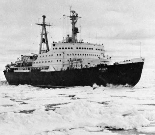 The USSR launched Lenin, the world's first nuclear icebreaker, in 1957.