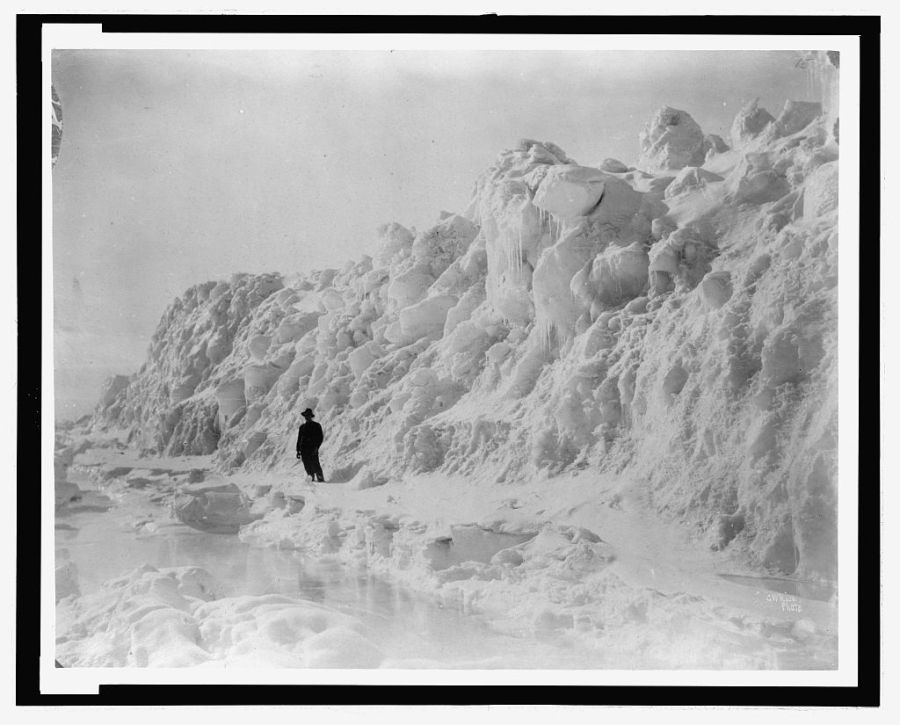 Arctic-sea-ice-june-historic-black-and-white
