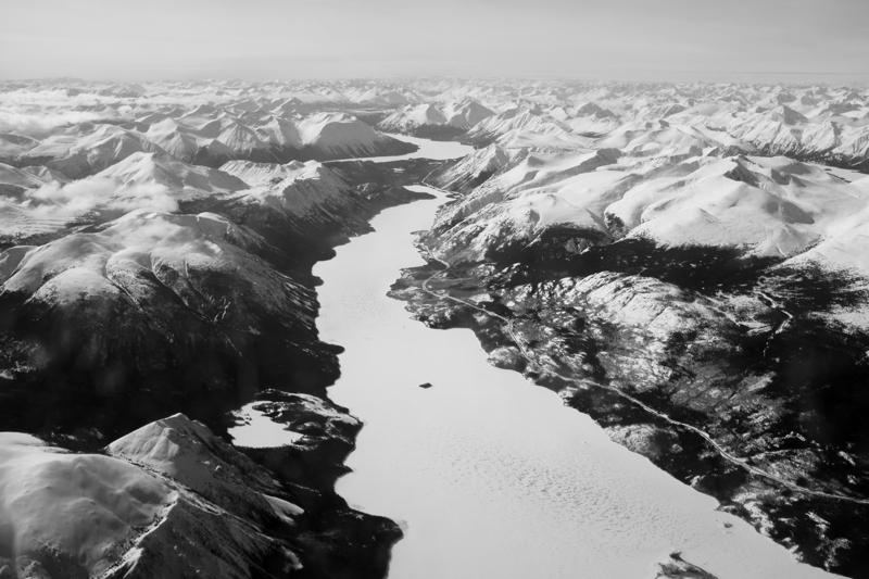 River-Yukon-Winter-Ice-Black-and-White