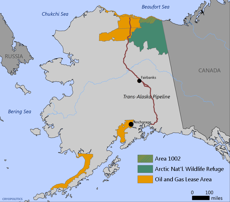 The White House's Budget for 2018 proposes to open Area 1002 in the Alaska National Wildlife Refuge to oil and gas lease sales beginning in 2022/2023.
