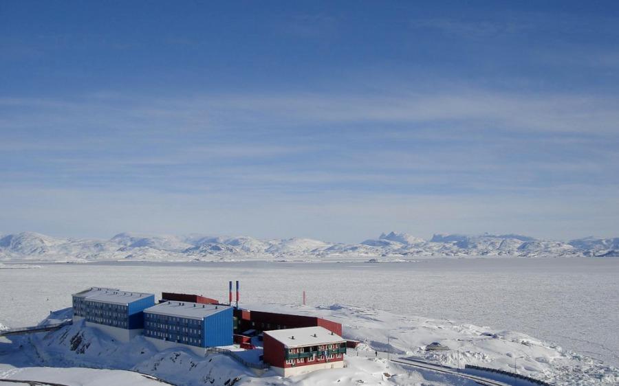Maniitsoq, Greenland in March