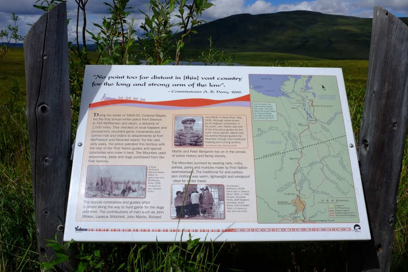 Interpretive sign at Tombstone Territorial Park