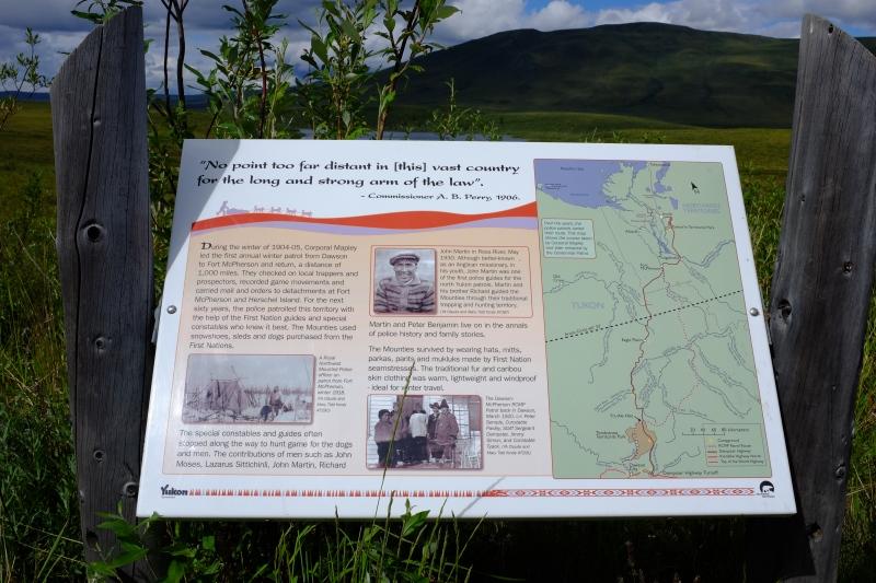 Interpretive sign at Tombstone Territorial Park