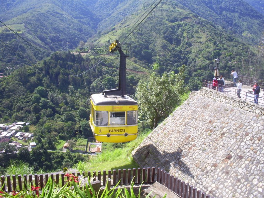 The world's highest, and one of the world's longest, cable cars, in Merida, Venezuela.